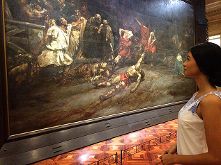 Enjoying Juan Luna's The Spoliarium