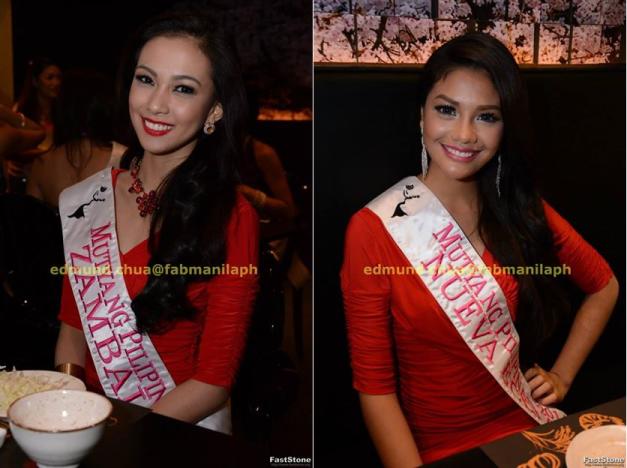 Mutya ng Zambales Alexandra Faith Garcia (left) and Mutya ng Nueva Ecija Jackielyn Dulay