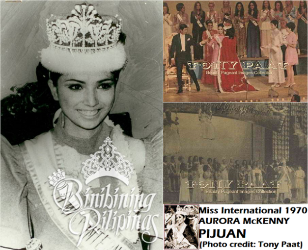 1970 Miss International Aurora McKenny Pijuan during her victory in Osaka, Japan