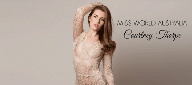 Miss World Australia 2014 Courtney Thorpe and her official pre-arrival shots for Miss World 2014
