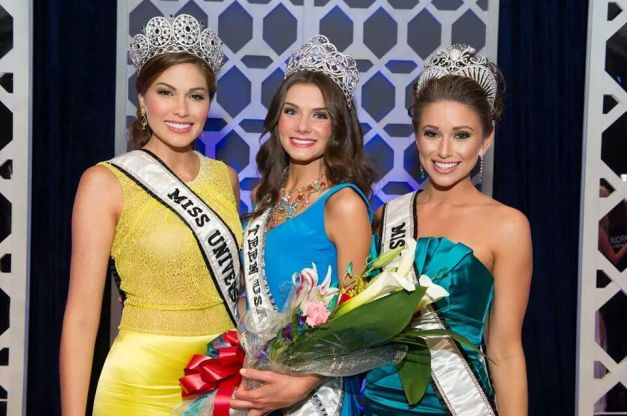 (L-R): Miss Universe 2014 Gabriela Isler, Miss Teen USA 2014 K. Lee Graham and Miss USA 2014 Nia Sanchez