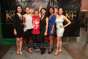 (L-R): Mutya ng Pilipinas Asia-Pacific International 2014 Eva Psychee Patalinjug, Bb. Pilipinas-Intercontinental 2014 Kris Janson, Rodgil Flores, Miss Philippines Earth 2014 Jamie Herrell, Miss Philippines Air 2014 Diane Querrer and Miss Philippines Eco-Tourism 2014 Monique Manuel (Photo credit: Melvin Sia/OPMB Worldwide)
