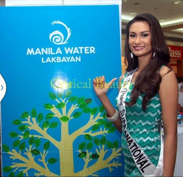 Bb. Pilipinas Supranational 2014 Yvethe Marie Santiago during the Manila Water 'Toka Toka' Event (Photo credit: Jonas Yu for Critical Beauty)