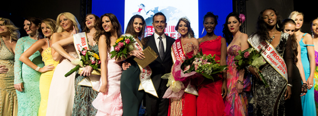 Pageant Director Giuseppe Borrillo (middle) with the winners of Miss Progress International 2014
