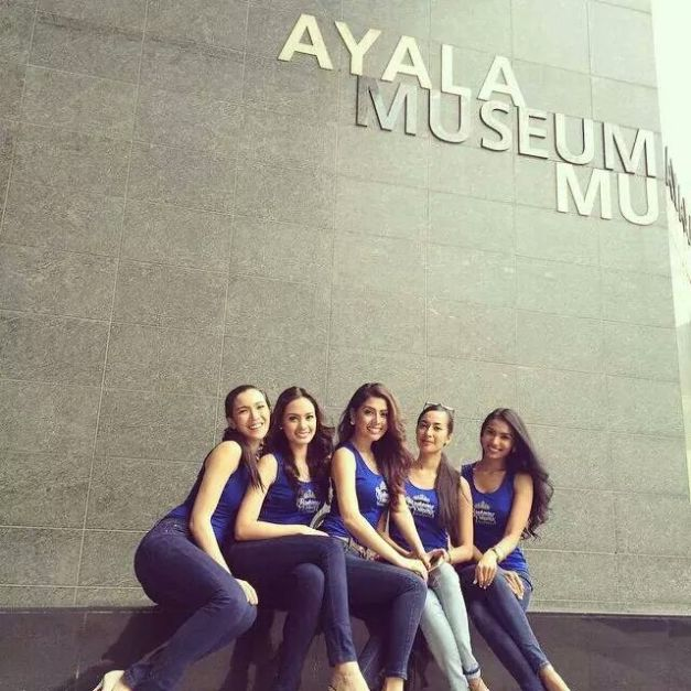 Our Bb. Pilipinas 2014 Queens got their VIP Tour of Ayala Museum yesterday