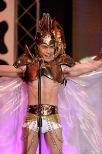 Joseph during the opening of Misters of the Philippines 2014 (Photo credit: OPMB Worldwide)