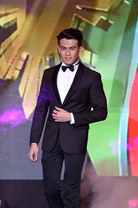 Joseph during the Top 15 Formal Wear competition (Photo credit: OPMB Worldwide)