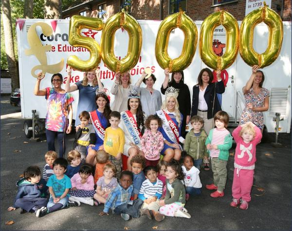 Miss World Beauty With A Purpose was able to raise £50,000 for the children of Coram