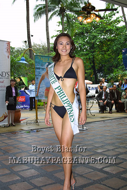 Miss Earth Philippines Carlene Aguilar during the ME2001 Press Presentation at the Hotel Intercontinental Manila (Photo credit: Boyet Blas for Mabuhay Pageants)