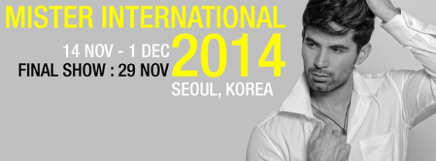From the original October 18, Mister International 2014 has been postponed for November 29
