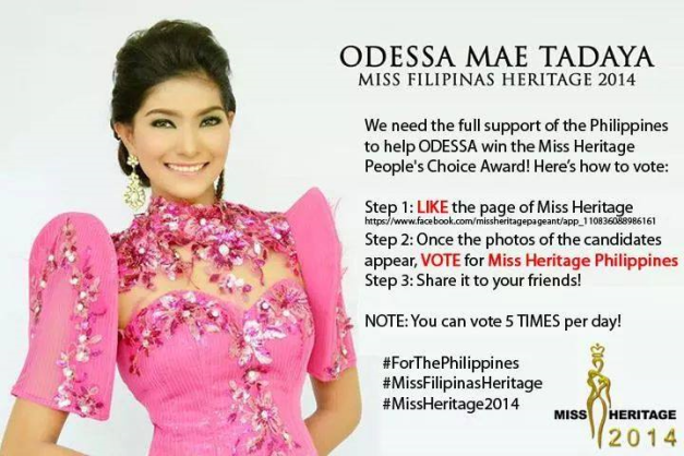 Click above to vote for Odessa Mae Tadaya in Miss Heritage 2014