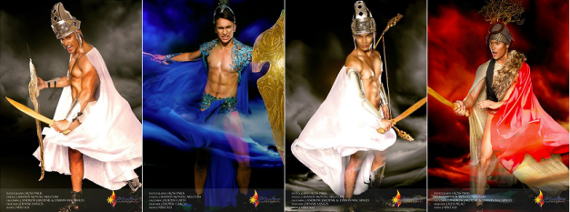 My Sparta-cular 4 for Misters of the Philippines 2014 (left to right): Neil Perez, Adam Davies, Alexis Francis Martinez and Nicko dela Cruz