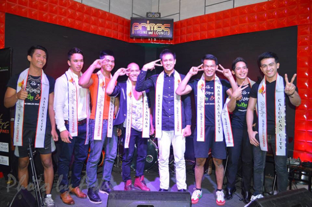 Top 8 in Talent (left to right): Mark Andrew Baron of Navotas, Adam Davies of Fil-UK, Patrick Dimayuga of Batangas, Bap Petel of Davao del Sur, Alexis Martinez of Mabalacat, Mario Esquierdo of Compostela Valley and Joseph Doruelo of Caloocan City (Photo credit: Aski)