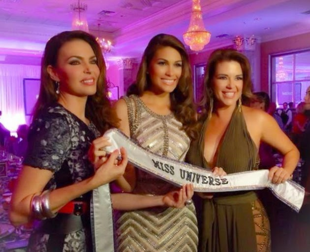 Left to right: Miss Universe 1986 Barbara Palacios Teyde, Miss Universe 2013 Gabriela Isler and Miss Universe 1996 Alicia Machado attend an event organized by People en Espanol
