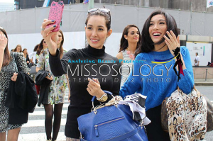MI2013 Bea Rose Santiago and Miss Philippines Bianca Guidotti in Ginza (Photo credit: Stephen Diaz for Missosology)