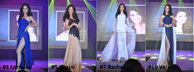 Lorraine, Gazini, Rachel and Valerie are the Constant Four in Miss World Philippines 2014 (Photo credit: Vatican Fashion Museum)