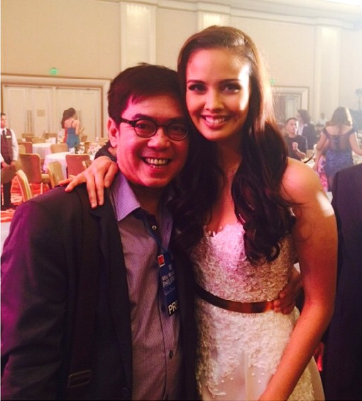 Your blogger with Miss World 2013 Megan Young during the Gala Charity Night of Miss World Philippines 2014 at the Solaire Resort & Casino Grand Ballroom (Thanks to Dencio Natividad for taking the pic)