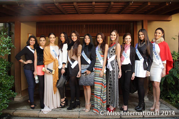 Another group photo featuring some members of the big bloc of Latinas in Miss International 2014