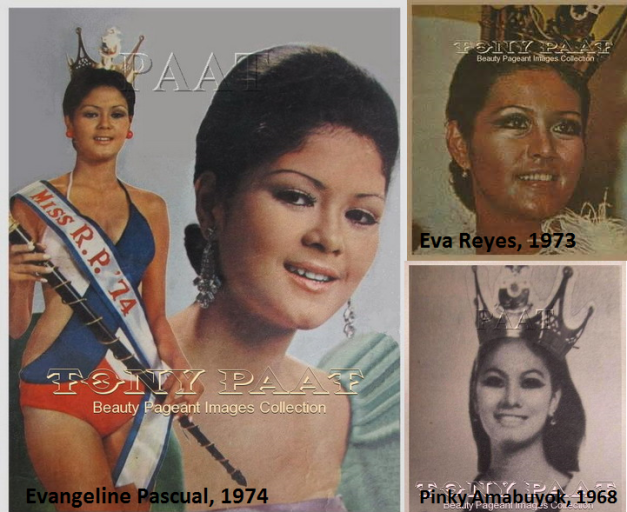 Three of the four best-performing Miss Republic of the Philippines titleholders from 1966-1976 (Photo credits: Tony Paat)