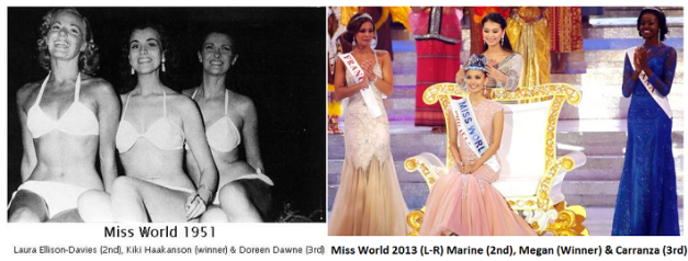 Miss World has come a long way from the first edition in 1951 all the way to last year's finals in Bali.