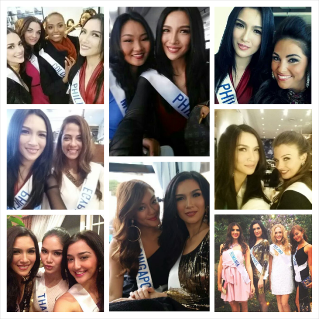 Miss Philippines Bianca Guidotti in various selfies with the ladies of Miss International 2014