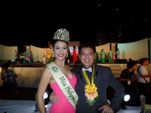 Jamie and your blogger during Miss Panglao 2014