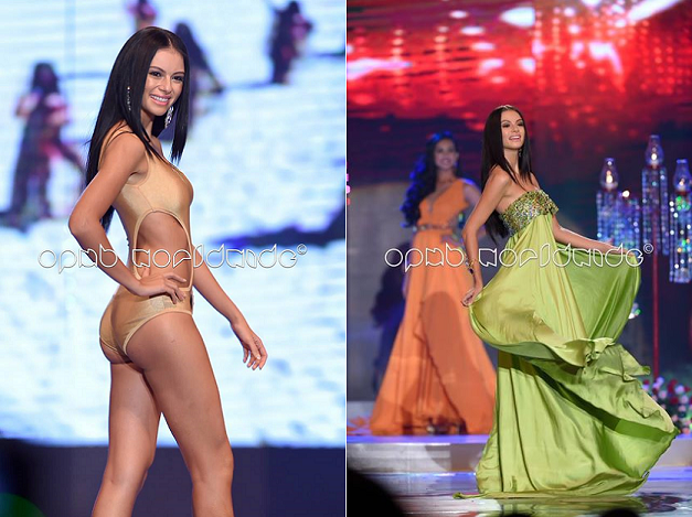 Miss World Philippines 2014 Valerie Weigmann in action during the pageant finals' swimsuit and everning gown competitions. (Photo credit: Jory Rivera/OPMB Worldwide)