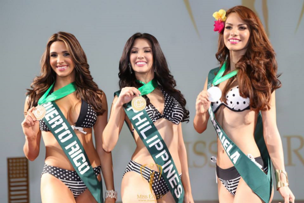 Being Darlings of the Press (left to right): Franceska Toro of Puerto Rico, Jamie Herrell of the Philippines and Maira Alexandra Rodriguez of Venezuela are considered early favorites for Miss Earth 2014.