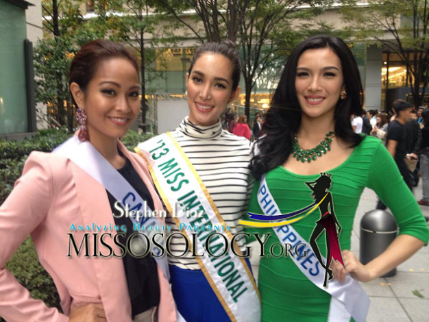 Miss Canada Kesiah Papasin, Miss International 2013 Bea Rose Santiago and Miss Philippines Bianca Guidotti (Photo credit: Stephen Diaz for Missosology)