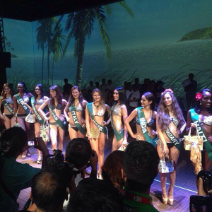 Some of the Miss Earth 2014 candidates during the Press Presentation
