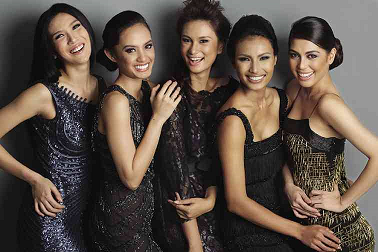 MJ (1st from right) with the other Bb. Pilipinas 2014 Queens