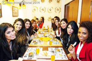 Deise and Rafaela (2nd and 3rd from left) are always seated together