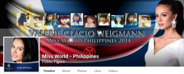 Click above to visit and like Valerie Weigmann's Miss World Philippines Facebook Page