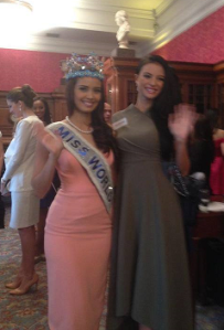 Val with Miss World 2013 Megan Young