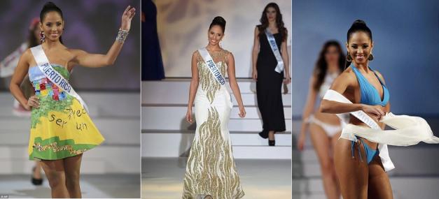 Miss International 2014 Valerie Hernandez Matias during her final turns onstage before being crowned winner.