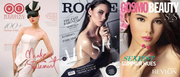 One of Catriona's magazine covers above could spell the difference between joining Bb. Pilipinas or not.