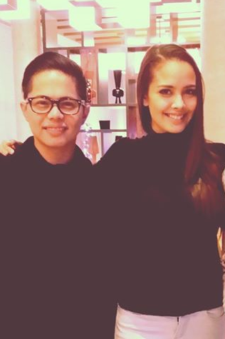 Miss World 2013 Megan Young and her former handler Mark Besana reunite in London