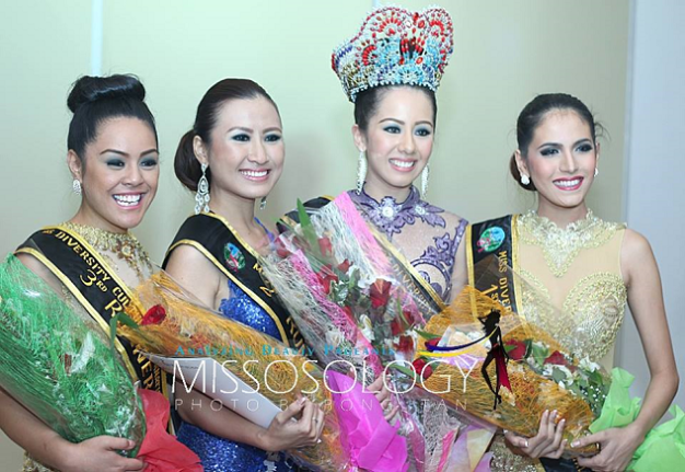 The Female Winners (left to right): 3rd Runner up Marita Tuigamala of Samoa, 2nd Runner-Up  Kueh Mei Fung of Borneo/Malaysia, Miss Diversity Culture International 2014 Anjelica Whitelaw of Australia and 1st Runner-Up Renee Soraya Hassani of the Philippines (Photo credit: Bong Tan of Missosology)