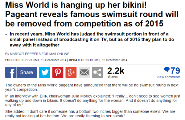 The report made by Margot Peppers for MailOnline. Click above to read the whole article.