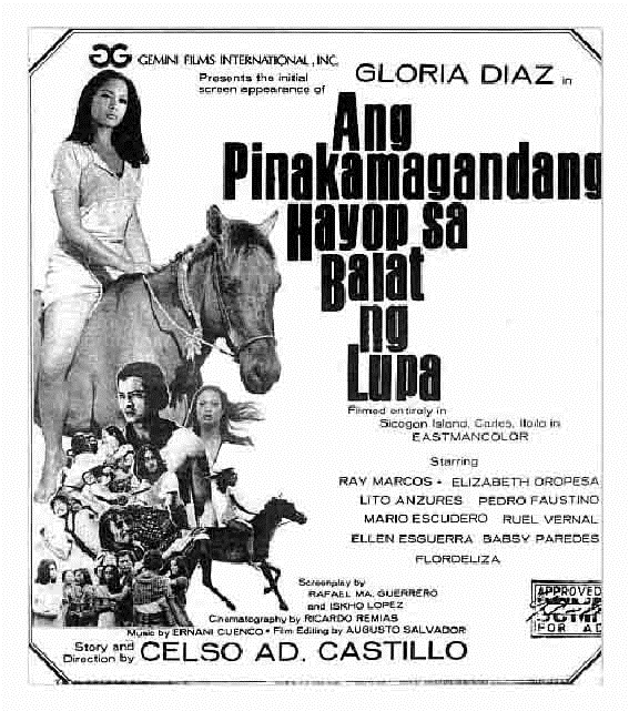 "The movie that launched Miss Universe 1969 to movie stardom and which started the ""wet look"" in Philippine cinema."