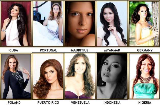 Above are the ten (10) remaining delegates who could make up the Top 15 Semi-finalists of Miss Intercontinental 2014