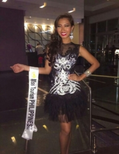 Cindy Madumma during last year's Miss Tourism World in Venezuela