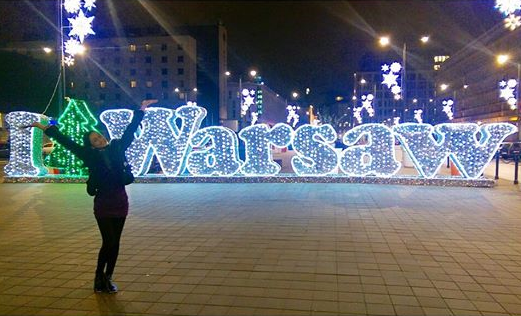 Bb. Pilipinas Supranational 2014 Yvethe Santiago enjoying Warsaw