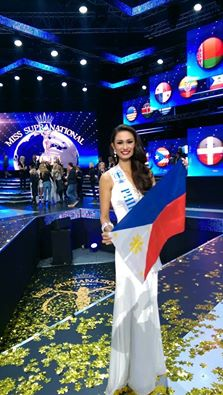 Yvethe during her last shot on the Miss Supranational 2014 stage