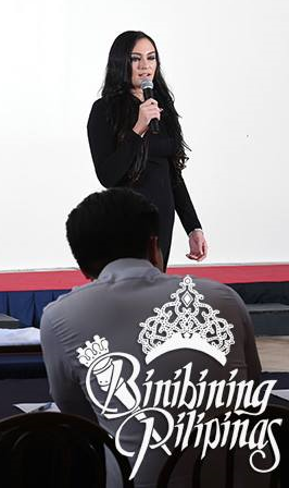 Mia during the Bb. Pilipinas 2015 screening