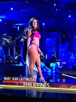 Miss Philippines MJ Lastimosa during the swimsuit competition