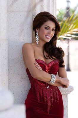 Miss Philippines MJ Lastimosa during her gown photoshoot