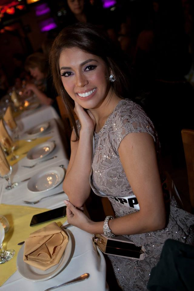 Miss Philippines MJ Lastimosa during dinner at Layali Miami