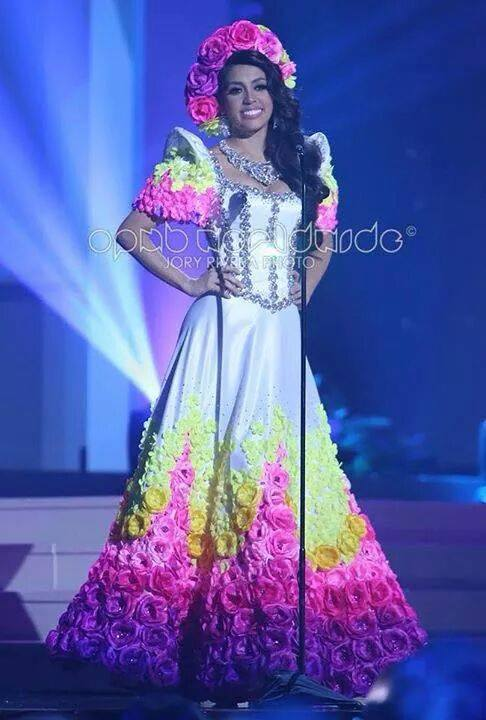 Miss Philippines MJ Lastimosa wears her National Costume for the 63rd Miss Universe Pageant (Photo credit: Jory Rivera)