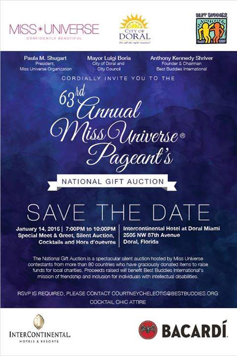 Another 'save the date' event for the 63rd Miss Universe Pageant